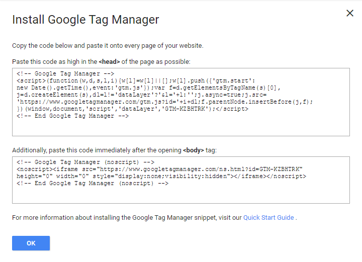 Conteneur (Google Tag Manager)