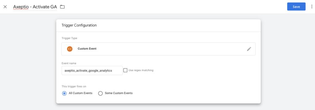 Google Analytics GTM et axeptio 6