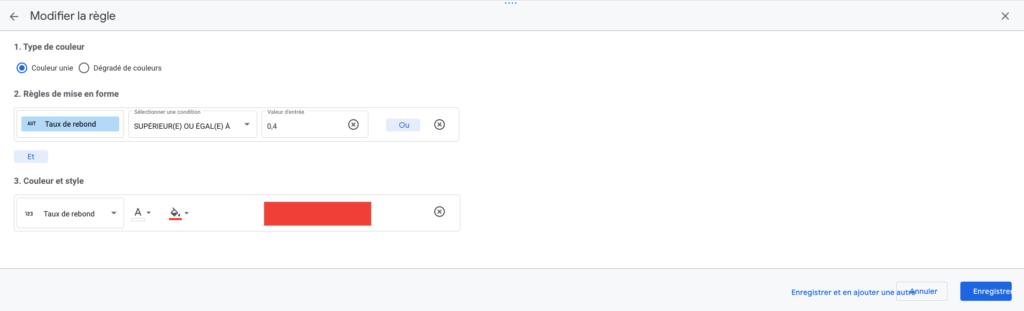 La mise en forme conditionnelle sur Google Data Studio