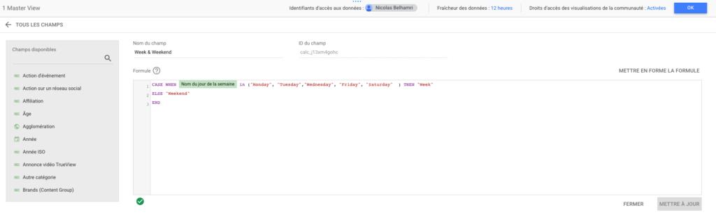 Les dimensions customisées sur Google Data Studio