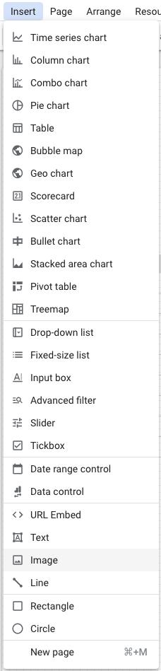 Ajouter une image google data studio