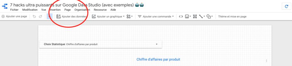 Changer individuellement la taille de vos pages sur Google Data Studio