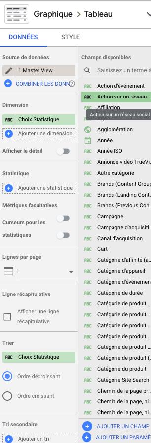 Modifier du texte de façon dynamique sur Google Data Studio